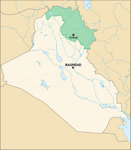 Map of Iraqi Kurdistan (Wikicommons)