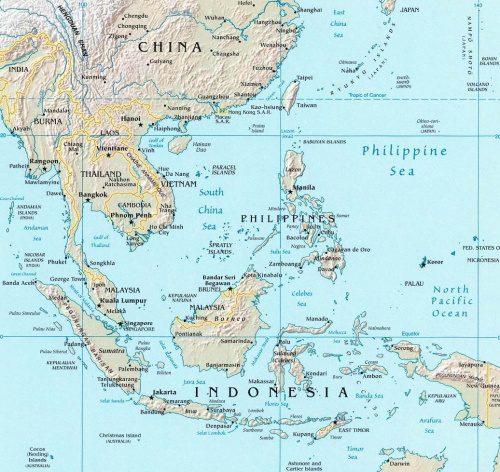 Southeast Asia. CIA illustration